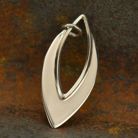 Sterling Silver Marquis Pendant - Flat Plate