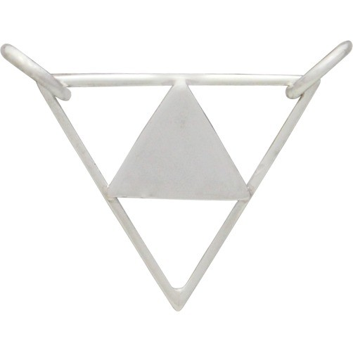 Triangle Pyramid Festoon Silver Pendant DISCONTINUED
