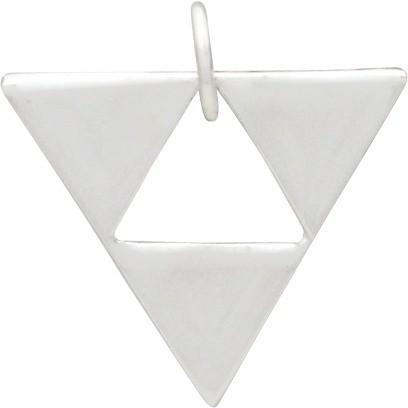 Silver Geometric Pendant - Triangle Pyramid DISCONTINUED