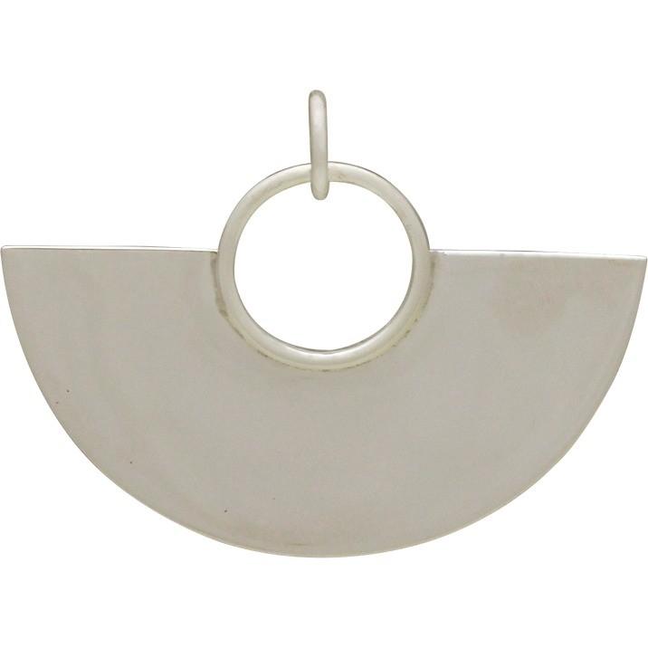 Sterling Silver Large Fan Pendant 23x30mm