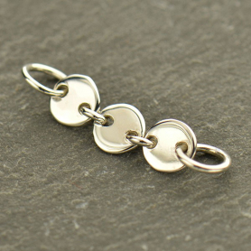 Jewelry Supplies - Three Circles Silver Links