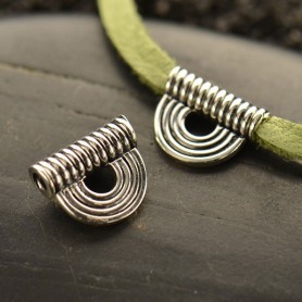 Sterling Silver Bead - Bali Scallop Wire Bead