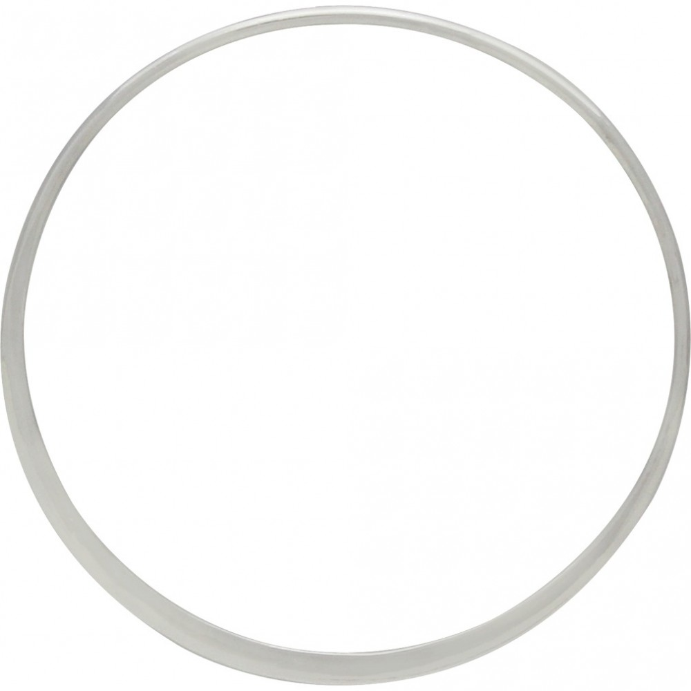 Sterling Silver Half Hammered Circle Jewelry Link 43mm