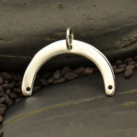 Sterling Silver Flat Plate Arch Pendant 15x20mm