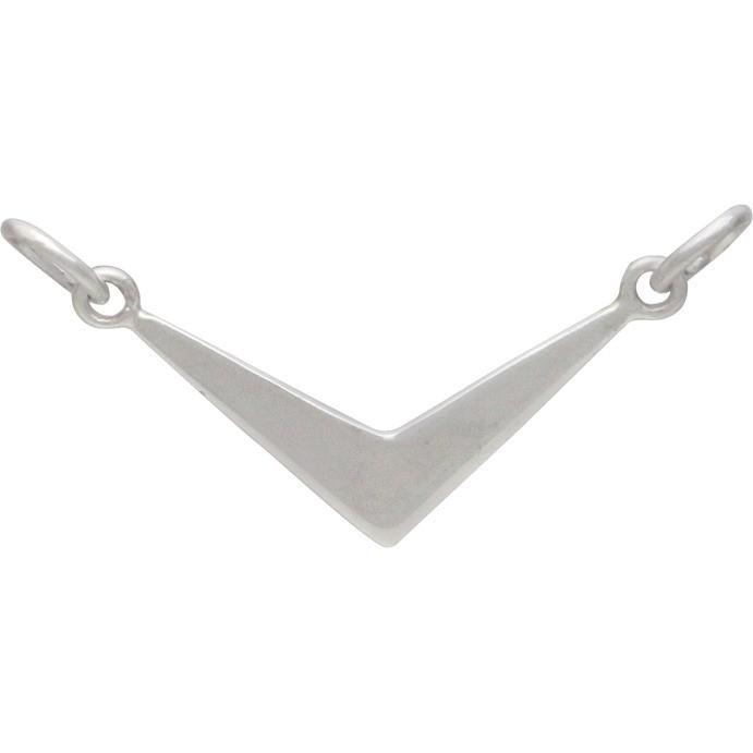 Flat Chevron Festoon Silver Pendant DISCONTINUED
