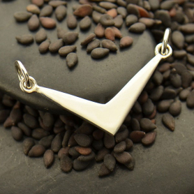 Flat Chevron Festoon Silver Pendant DISCONTINUED