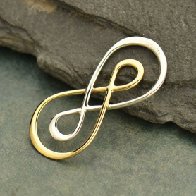 Jewelry Parts - Infinity Silver and Bronze Mixed Metal Links