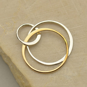Jewelry Supplies - Three Circles Mixed Metal Links