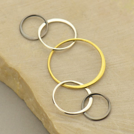 Mixed Metal Five Circles of Life Link -57mm