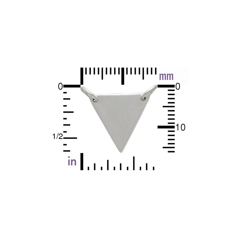 Large Wide Triangle Festoon Silver Pendan DISCONTINUED
