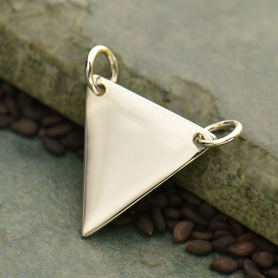 Large Wide Triangle Festoon Silver Pendan DISCONTINUED