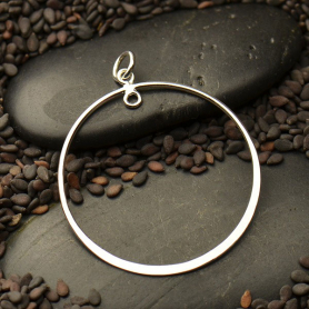 Jewelry Part - Large Circle with Soldered Loop Silver Links