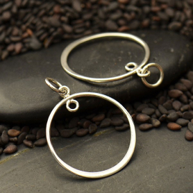 Jewelry Part - Small Circle with Soldered Loop Silver Links