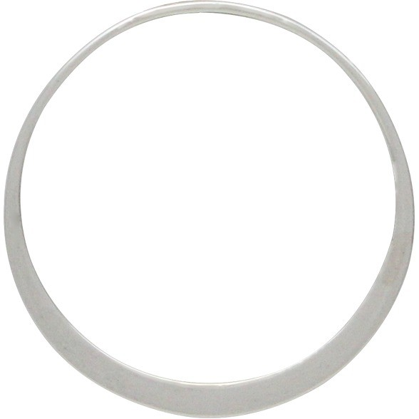 Sterling Silver Circle Frame Link with Holes 25x25mm