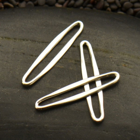 Small Sterling Silver Skinny Oval Link