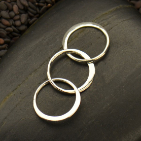 Sterling Silver Circle Link Chain Segment