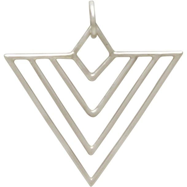 Sterling Silver Art Deco Chevron Wire Charm