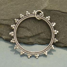 Sterling Silver Open Mandala Pendant - Sun Charm