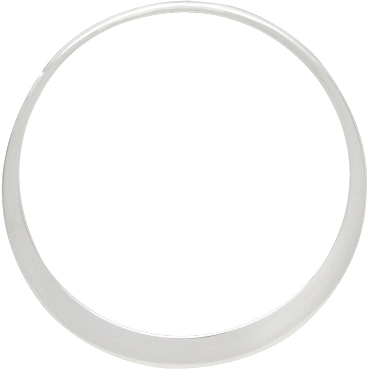 Sterling Silver Large Circle Frame with Hole 31x31mm