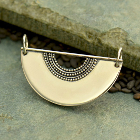 Sterling Silver Scallop with Granulation and Wire