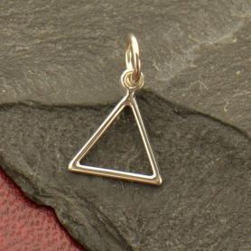 Sterling Silver Fire Element Symbol Charm