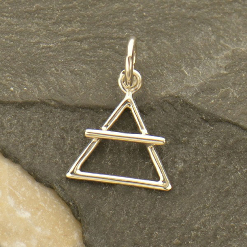 925 Sterling Silver Element Charm. Sterling Silver Fire Element Charm