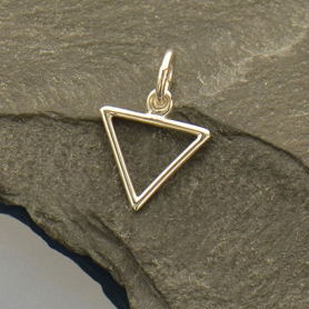 Sterling Silver Water Element Symbol Charm