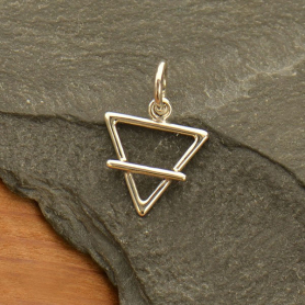 Sterling Silver Earth Element Symbol Charm