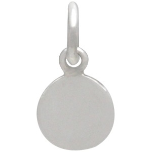 Silver Moon Charm with Bronze First Quarter DISCONTINUED