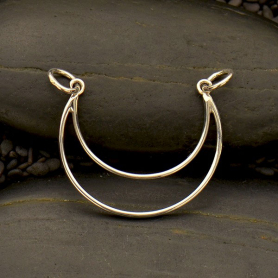 Small Sterling Silver Crescent Moon Pendant DISCONTINUED