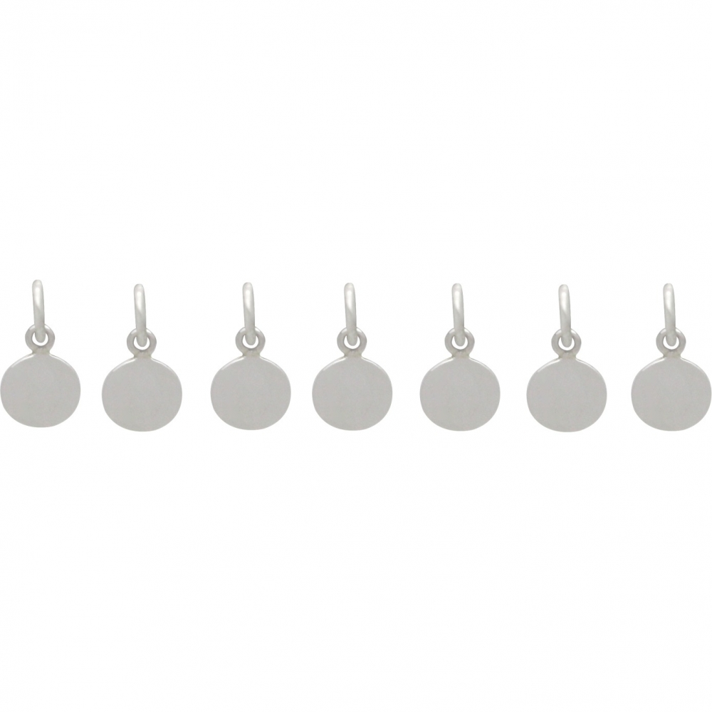Sterling Silver and Bronze Moon Phase Charm Set - 7 Moons