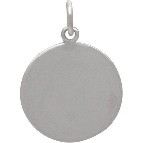 Sterling Silver Evil Eye Pendant with Granulation