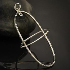 Sterling Silver Oval Frame Pendant