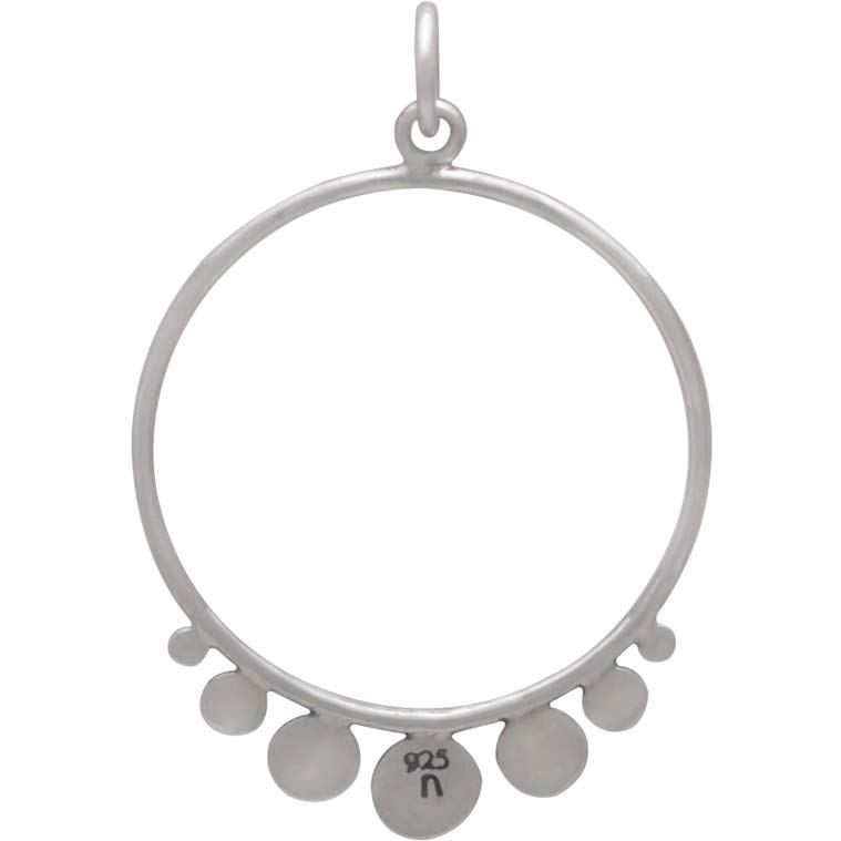 Sterling Silver Circle Charm with Flat Circles