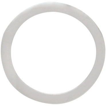 Sterling Silver Flat Circle Link15mm