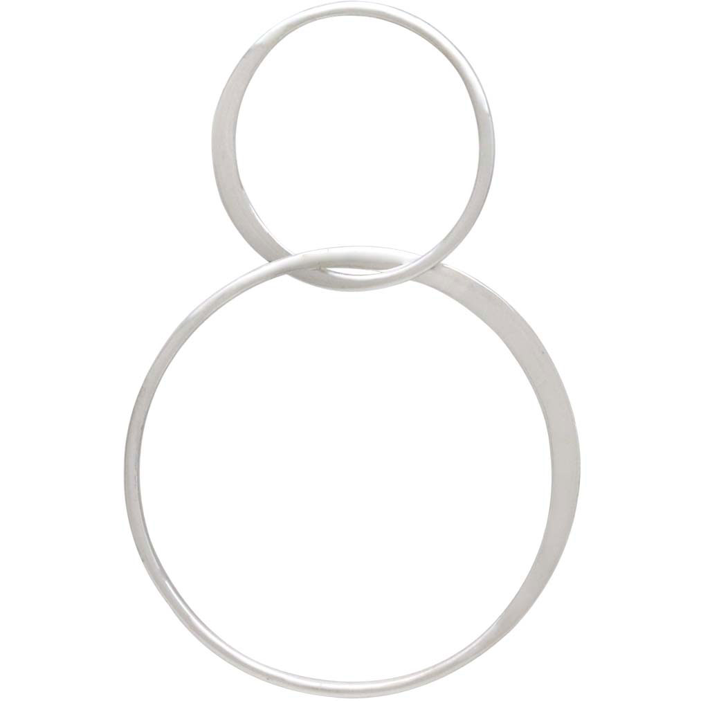 Sterling Silver Two Circles of Life Link 44x28mm