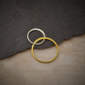 Mixed Metal Silver and Bronze 2 Circles Link 28x18mm