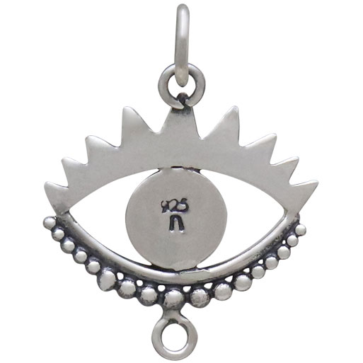 Sterling Silver Large Evil Eye Link 22x16mm