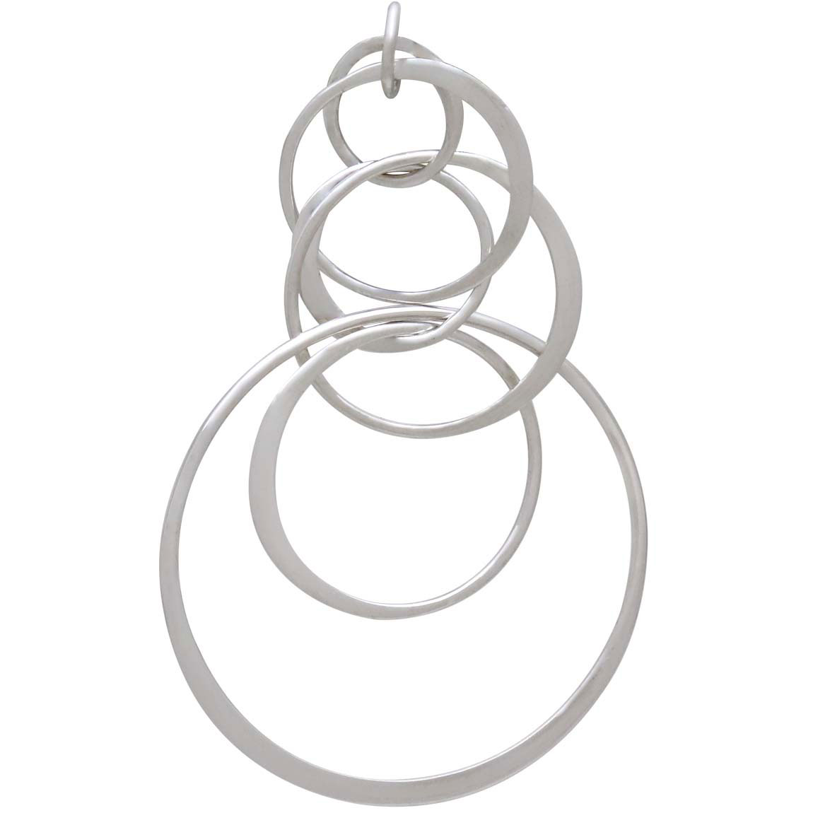 Sterling Silver Seven Floating Circles Link 49x29mm