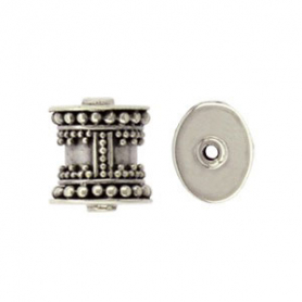 Sterling Silver Bead - Barrel Bead with Granulation