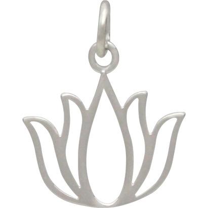Sterling Silver Blooming Lotus Charm