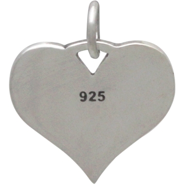 Sterling Silver Message Pendant - Cat Mom 17x14mm