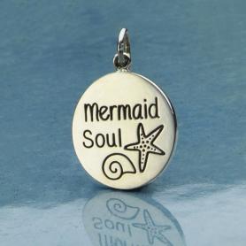 Sterling Silver Mermaid Charm - Mermaid Soul Beach Charm