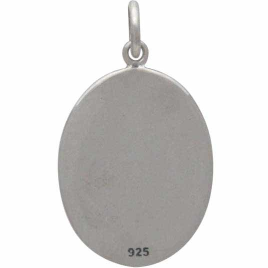 Sterling Silver Stand Up Paddle Girl Charm 23x13mm