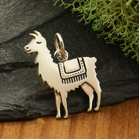 Sterling Silver Llama Charm 17x14mm