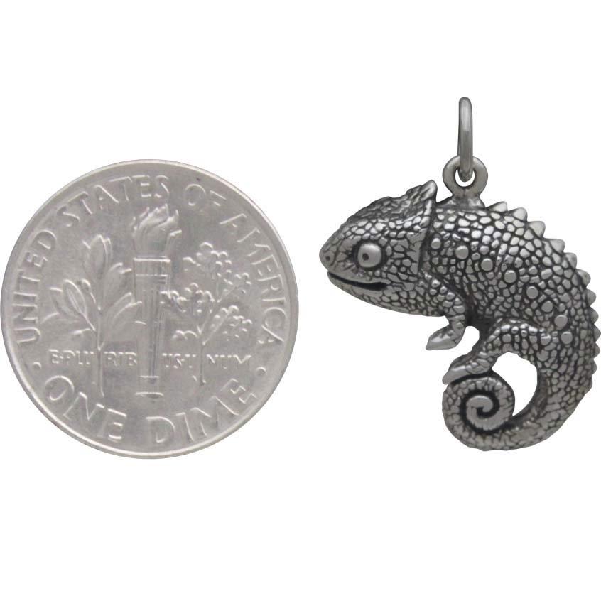 Sterling Silver Chameleon Charm