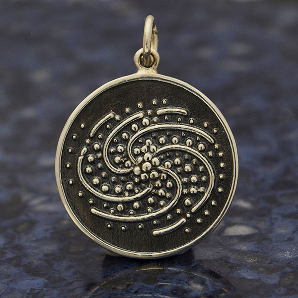 Jewelry Galaxy Charms Rose Gold Galaxy Charm Sterling Silver Charm