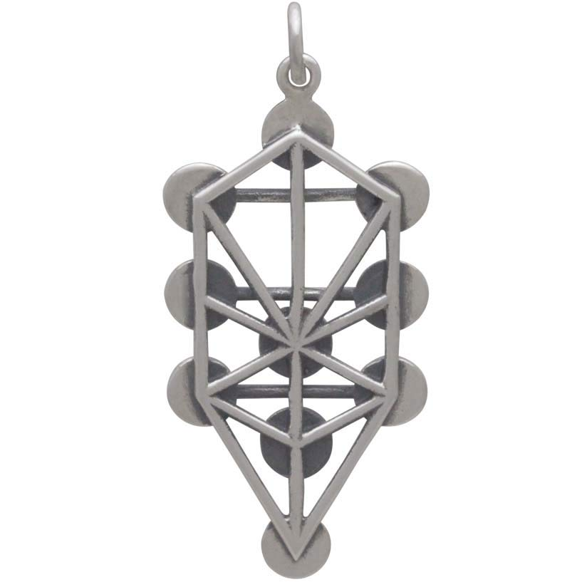 Sterling Silver Tree of Life Pendant with Planets