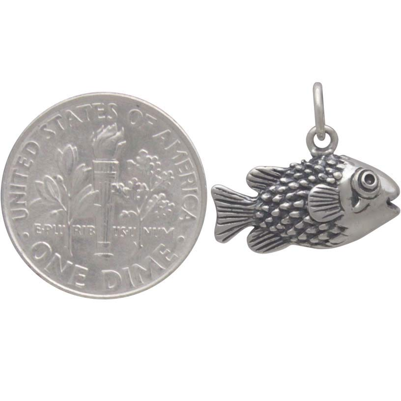 Sterling Silver Puffer Fish Charm
