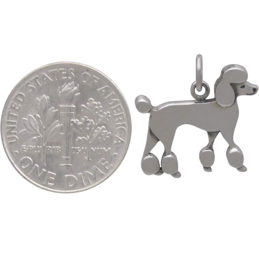 Sterling Silver Poodle Dog Charm